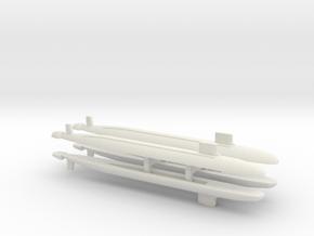 Virginia SSN x 4, 1/1250 in White Natural Versatile Plastic