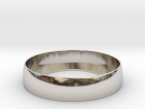 Beauty Ring / Bograt 22mm -- 24mm in Rhodium Plated Brass