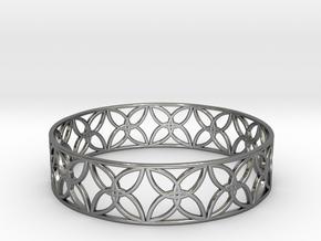 Enneper Curve Bracelet (001a) in Fine Detail Polished Silver