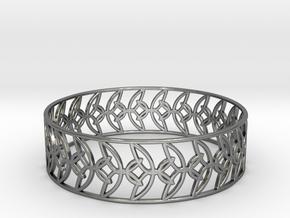 Enneper Curve Bracelet (004a) in Fine Detail Polished Silver