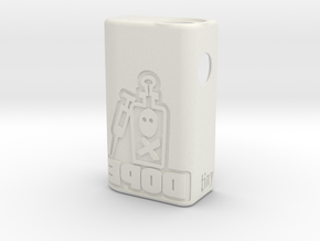 TBF# - Squonk DOPE Body - 21700 in White Natural Versatile Plastic