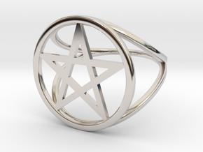 Pentacle ring in Platinum: 2 / 41.5