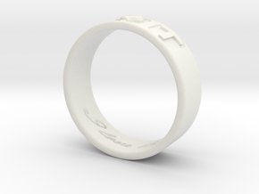R and T Ring in White Natural Versatile Plastic: 7 / 54