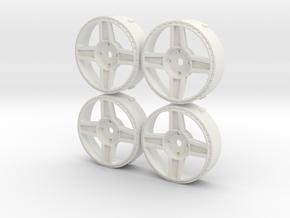 Rotiform RBQ MST Changeable insert set in White Natural Versatile Plastic