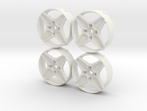 Rotiform GTB MST changeable insert set in White Natural Versatile Plastic
