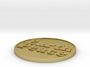 Peace on Earth in Natural Brass: Extra Small