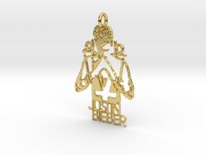Justin Bieber Pendant - Exclusive Jewellery in Polished Brass