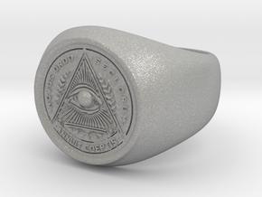 Illuminati Ring in Aluminum: 6.25 / 52.125
