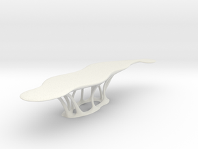 curved table_printed in White Natural Versatile Plastic: 1:200