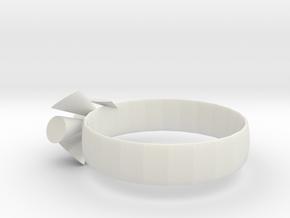 Happy in White Natural Versatile Plastic
