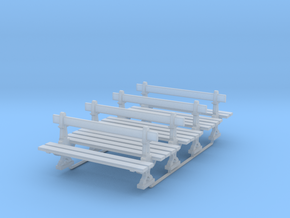 Banc Parisien - Urban Bench - HO - (x4) in Smooth Fine Detail Plastic