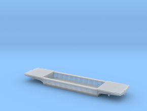 PRR F25 Depressed Center Flatcar in HO w/decking in Smooth Fine Detail Plastic