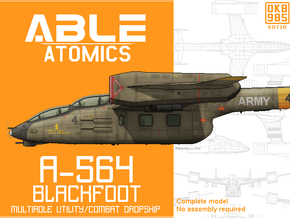 A-564 Combat Dropship in Black Natural Versatile Plastic: 6mm
