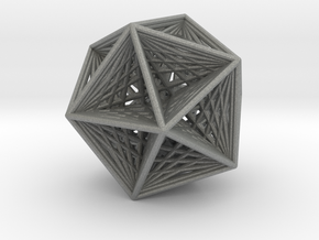 Icosahedron collapsing axis in Gray PA12
