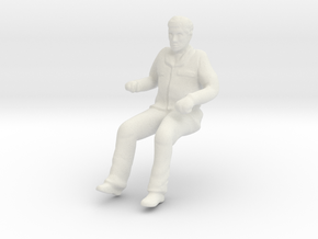 Man for WheelChair 1:32 Scale in White Natural Versatile Plastic