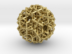 Hedron star Family Version 3 in Natural Brass