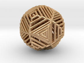 Cube to octahedron transition Version 2 in Natural Bronze