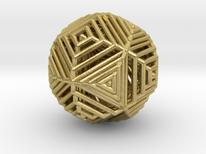 Cube to octahedron transition Version 2 in Natural Brass