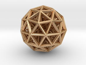 Geometric sphere with connected vertics in Natural Bronze