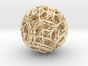 Dodeca & Icosa hedron families forming a sphere in 14K Yellow Gold