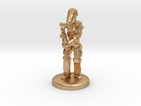 Battle Droid 20mm scale (25mm tall) in Natural Bronze