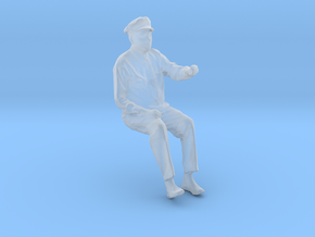 Seated Motorman Operator Figure for HO and O scale in Smooth Fine Detail Plastic: 1:87 - HO