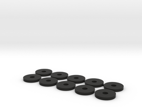 047003-01 Hotshot B6 Disc Spacers in Black Natural Versatile Plastic