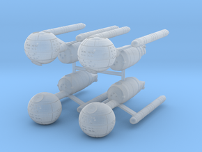 Confederation Daedalus Class Starship (x4) in Smooth Fine Detail Plastic