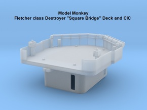 "1/72 Fletcher ""Square Bridge"" Deck and CIC in Smooth Fine Detail Plastic"