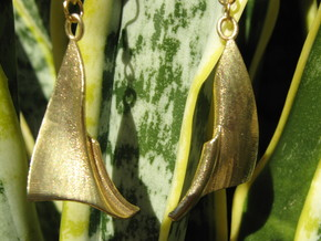 Fantasy 2 Earrings in Raw Brass