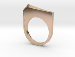 Faceted Pyramid Ring in 14k Rose Gold Plated Brass: 6 / 51.5