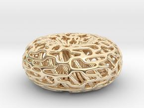 Torus Inside A torus in 14k Gold Plated Brass