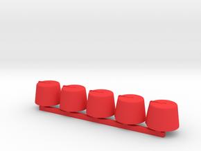 5 x Fez in Red Processed Versatile Plastic