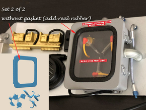 1:8 BTTF DeLorean Flux Capacitor set 2 of 2 WOG in Smoothest Fine Detail Plastic
