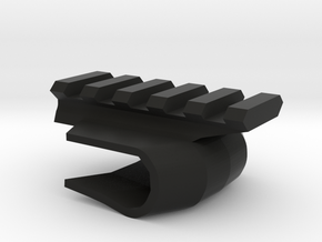 Front-Mounted Picatinny Rail For Skateboards in Black Natural Versatile Plastic