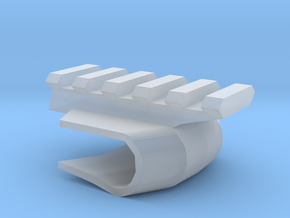 Front-Mounted Picatinny Rail For Skateboards in Smooth Fine Detail Plastic