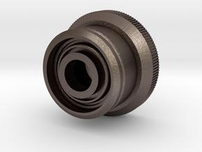 Artoo De Ago's 1:2.3 restraining bolt, bolt/curved in Polished Bronzed Silver Steel