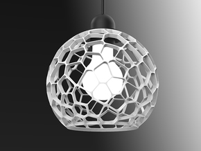 Ray Voronoi in White Natural Versatile Plastic