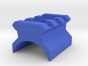 AK Top Cover Picatinny Rail (3 Slots) in Blue Processed Versatile Plastic