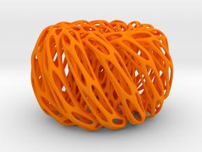 Perforated Twisted Double torus in Orange Processed Versatile Plastic