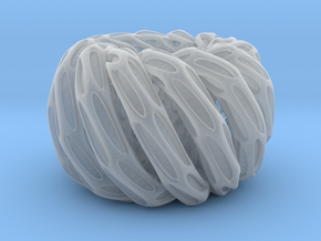 Solid Twisted double torus in Smooth Fine Detail Plastic