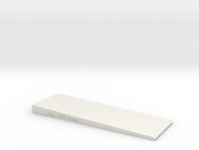 2 Inch Wide- Grade checker/leveler  in White Natural Versatile Plastic