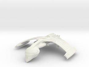 Romulan FireBird Class  WarBird wings up in White Natural Versatile Plastic