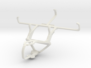 Controller mount for PS3 & Kyocera DuraForce Pro - in White Natural Versatile Plastic