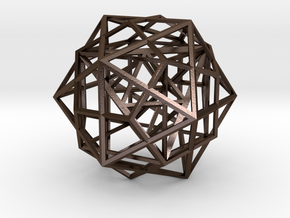 Nested Platonic Solids in Polished Bronze Steel