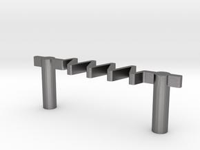Resistor drawer pull #10-32 thread @ 3in in Polished Nickel Steel