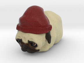 PugLoaf with Beanie in Natural Full Color Sandstone