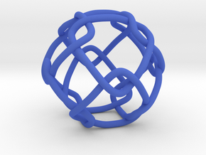 Link with Cubic Symmetry Group in Blue Processed Versatile Plastic