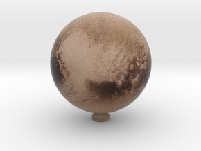 "Pluto /12"" Earth globe addon in Natural Full Color Sandstone"
