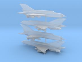 1/350 MiG-21bis Fishbed-N (x4) in Smooth Fine Detail Plastic
